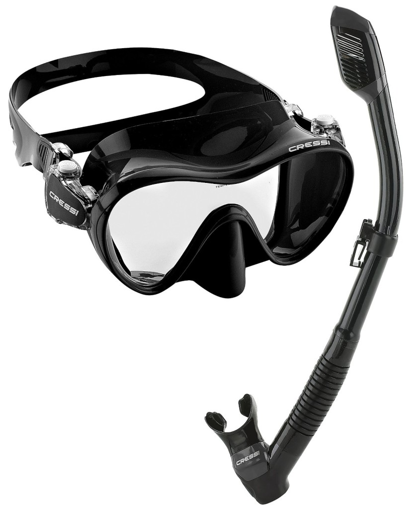 cressi mask and snorkel kit