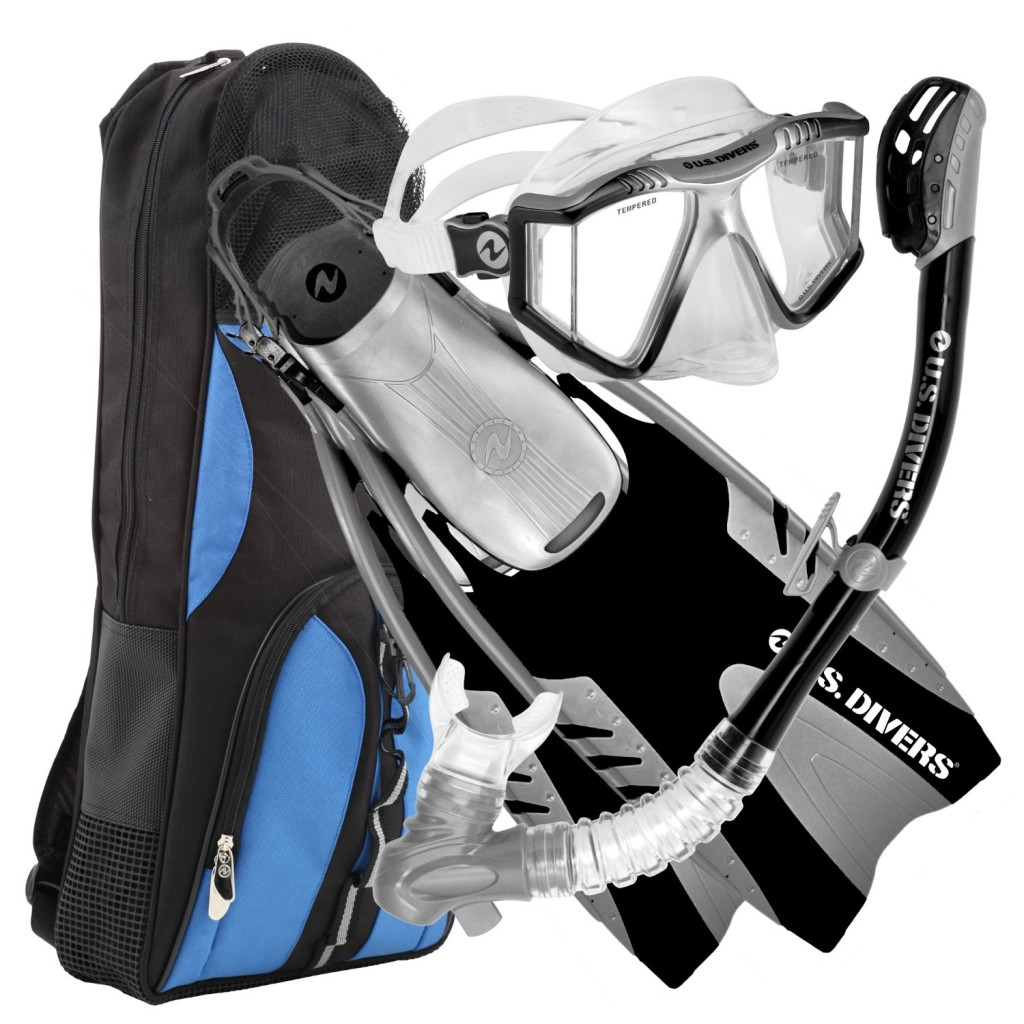 U S Divers Lux Lx Mask Fins And Snorkel Combo Set