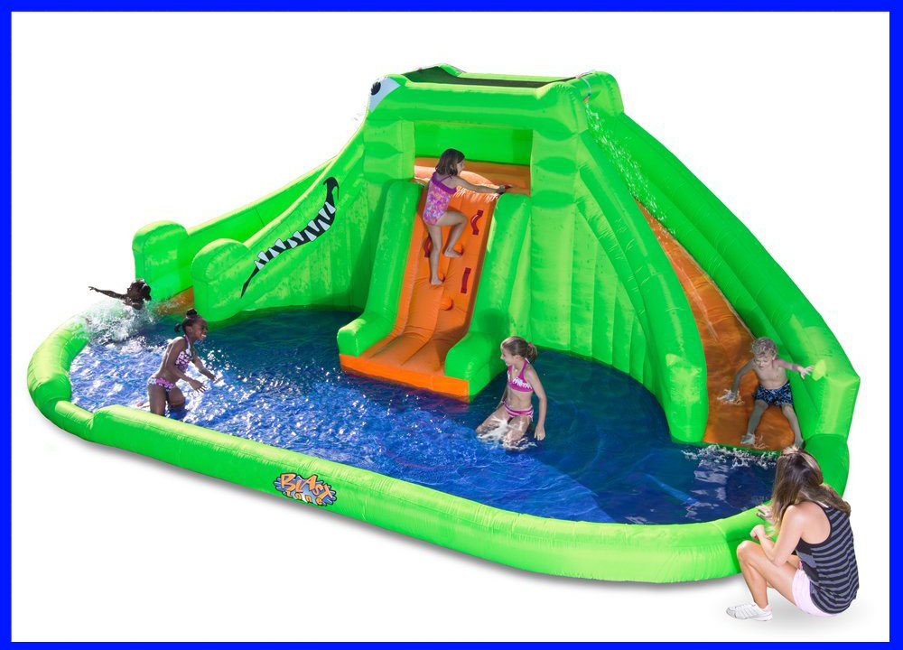 Blast Zone Crocodile Isle Inflatable water Park review