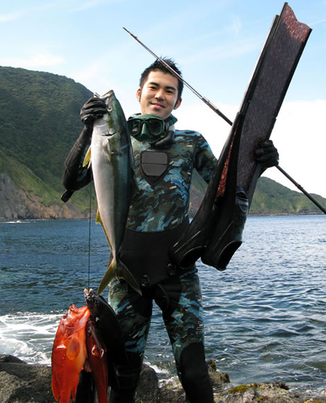 pole spear fishing